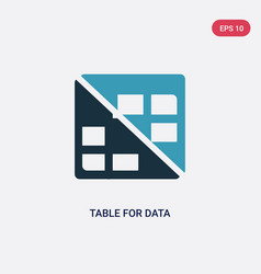 two color table for data icon from user interface vector image