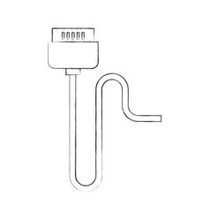 video game control plug vector image