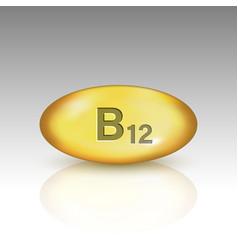Vitamin b12 drop pill vector