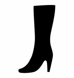 woman boot dark silhouette vector image