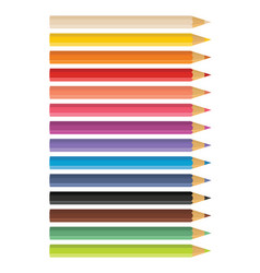 Wooden colored pencils vector