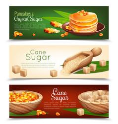 Cane sugar banners set vector