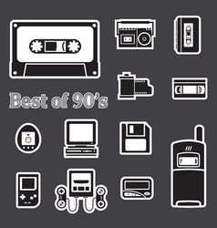 gadget of 90s icon vector image