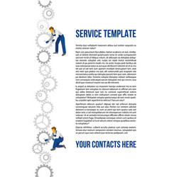 poster template for autoservice vector image
