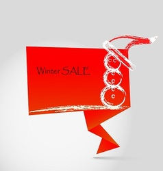 winter sale origami vector image