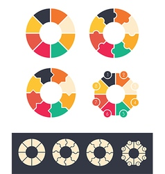circles infographic vector image vector image