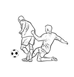 football players isolated on the white vector image