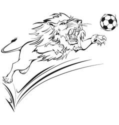 Furious lion vector