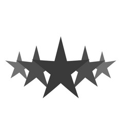 isolated gray star icon in set ranking mark vector image