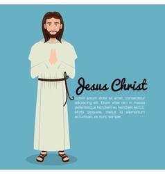 Jesus christ pray design isolated vector image