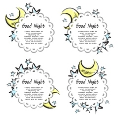 Moon And Stars labels vector image vector image