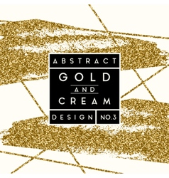 Abstract gold glitter design vector