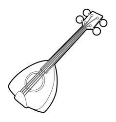 arabic guitar icon outline style vector image vector image