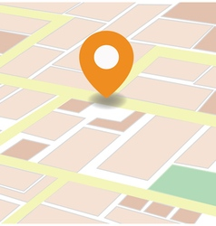 city map with GPS vector image