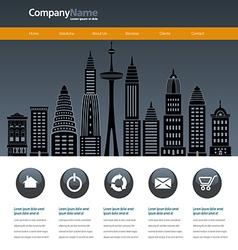 City web site design template vector image