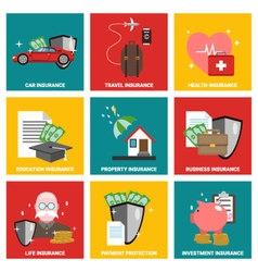 Insurance Flat design icon vector image