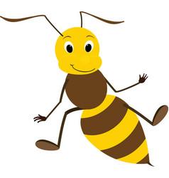 a friendly cute bee vector image vector image