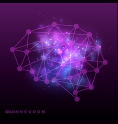 abstract brain neural network and universe vector image
