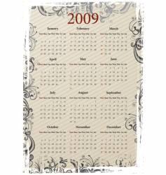 grungy calendar vector image