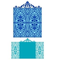 laser cut wedding invitation vector image