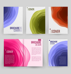magazine annual report design cover vector image vector image