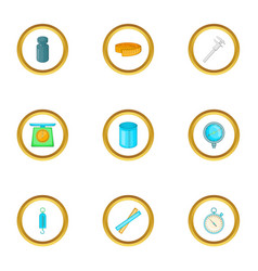 measurement icons set cartoon style vector image vector image