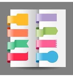 ribbon tags set vector image vector image