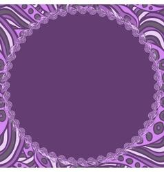 Round violet frame vector image vector image