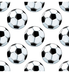 Seamless background pattern of soccer balls vector image