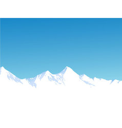 Winter mountains vector image vector image
