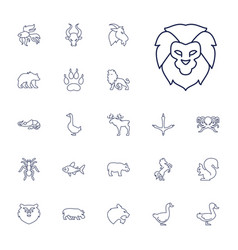 22 wild icons vector