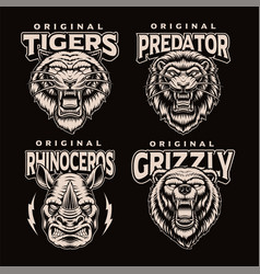 A set black and white badges different vector
