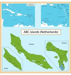 ABC Islands vector image