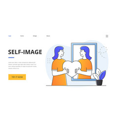 Abstract self-image concept vector