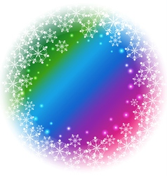 Abstract Snowflakes on colorful background vector image