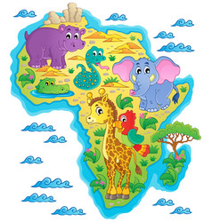 Africa map theme image 1 vector