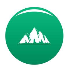 Alp icon green vector