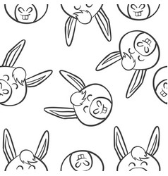 Art of animal head doodles vector