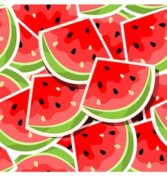 background with watermelon vector image