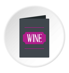 black wine card icon circle vector image