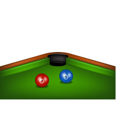 blue and red billiard balls vector image