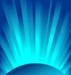 Blue rays light vector