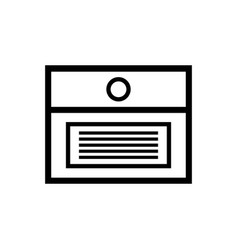 box for documents outline simple icon file vector image