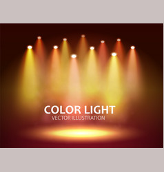 bright warm spotlights with stage big space vector image