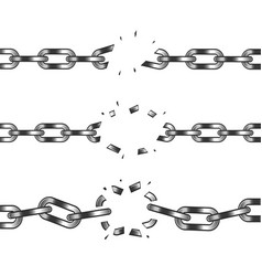 broken chain isolated on white vector image
