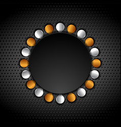 bronze and silver abstract circle shapes on vector image
