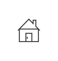 building icon in flat style home on white vector image