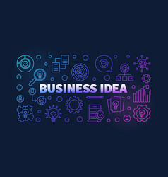 business idea colorful outline banner on dark vector image