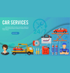 car services banner vector image