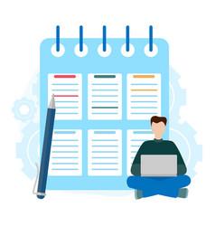 Checklist clipboard successful completion of vector